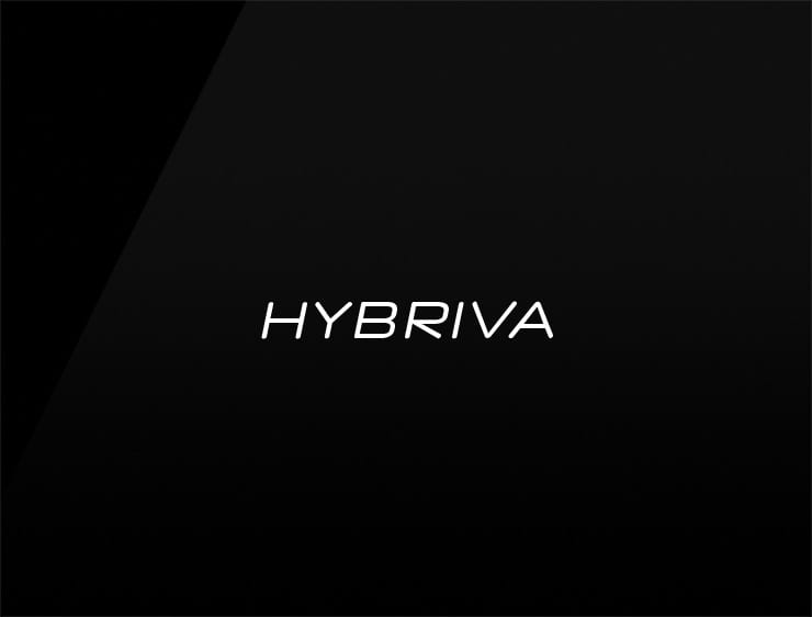 Cool invented evocative business name HYBRIVA